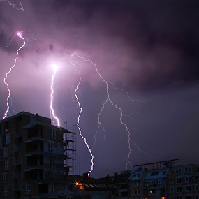 Under Fire  by Aleksandar Zhivkov - Landscapes Weather ( clouds, lightning, sky, dark sky, dark, night, storm,  )