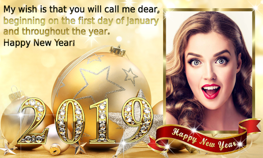 New Year Photo Frame New Year\'s greetings 2019 – Apps bei Google Play