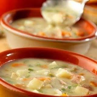 Garlic Potato Soup.