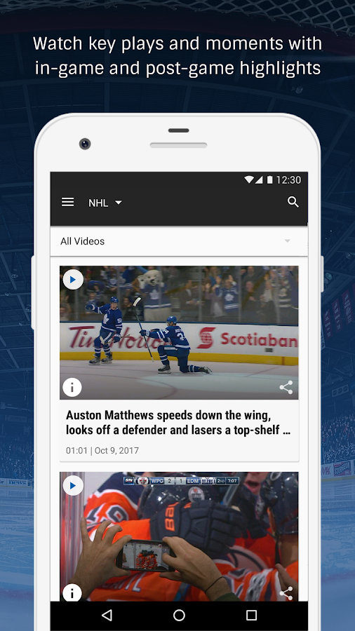 Oct 10, · The official NHL® app is the best place to keep up with live hockey. Stay connected to your favorite team and players with the trailfilmzwn.cf™ Free Game of the Week, radio broadcasts, stats, scores, news, and more! ^All live and on-demand games are subject to blackouts and other restrictions.4/5(K).