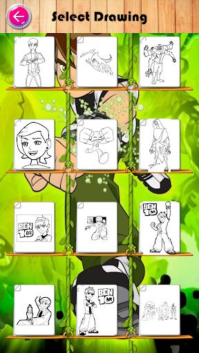 Coloring Ben 10 Omnitrix Ultimate Alien Omniverse Screenshot 2