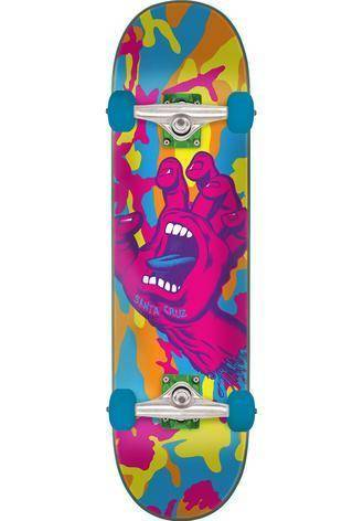 Santa Cruz - Screaming Hand Camo  7.75in x 31.4in Skateboard Complete