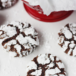 Decadent Double Chocolate Crinkle Cookies