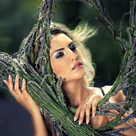 Lavender dream by Adina Ionut - People Portraits of Women ( blonde, girl, beauty, blur, flowers, lavender )