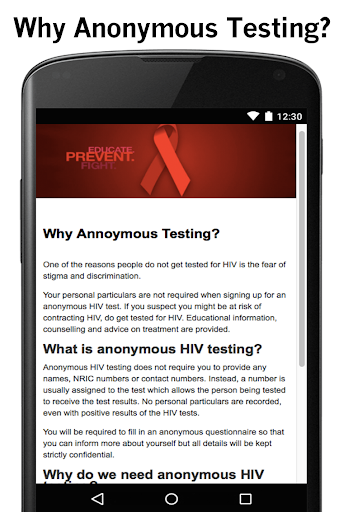 HIV Anonymous Singapore