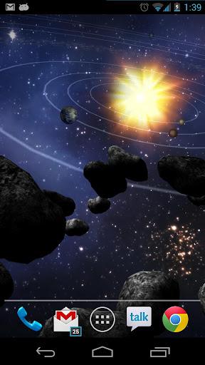 Asteroid Belt Live Wallpaper screenshot 1