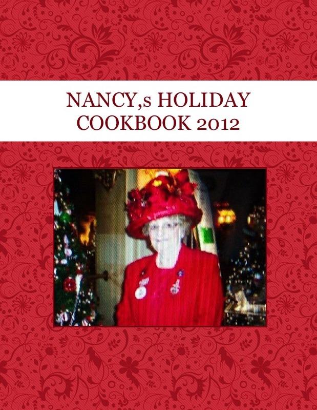 NANCY,s HOLIDAY COOKBOOK 2012