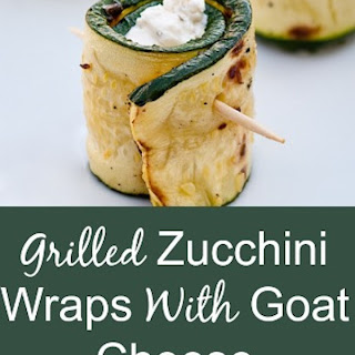 Grilled Zucchini Wraps with Goat Cheese.