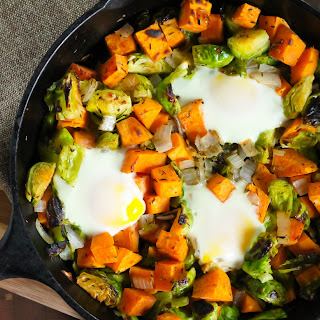 Sweet Potato and Brussels Sprout Hash
