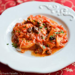 Baccalà in guazzetto (Roman Style Salt Cod in Tomato Sauce).