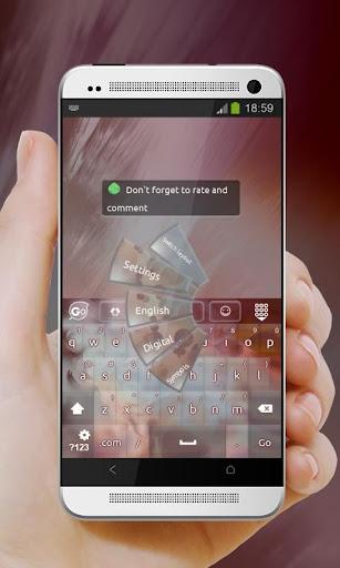 粉紅色的帆布 GO Keyboard|玩個人化App免費|玩APPs