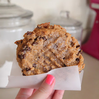 Peanut Butter Chocolate Chip Cookie For One.