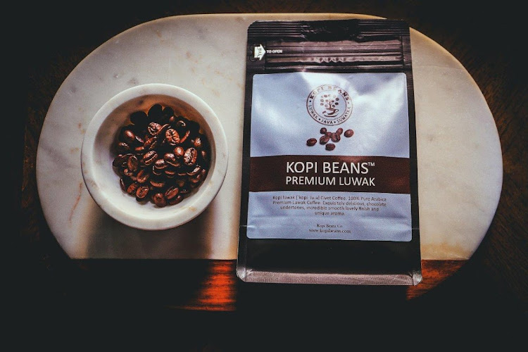 DAILY GRIND Kopi Luwak coffee.