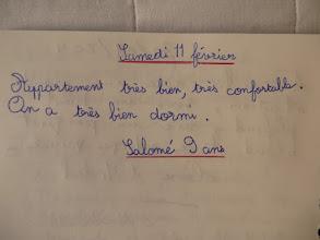Photo: Merci à Salomé pour ce petit mot très gentil !