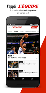 L'Équipe - Sport en direct : foot, tennis, rugby.. Capture d'écran