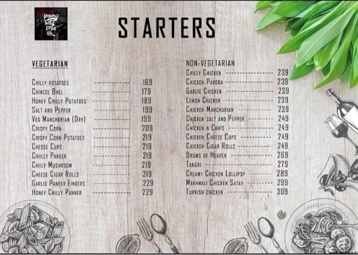 Young Wild Free Cafe menu 1