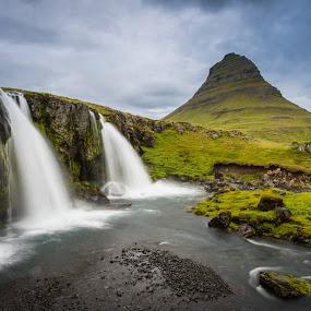 Kirkjufellsfoss, Iceland by Simon Gelfand - Landscapes Mountains & Hills