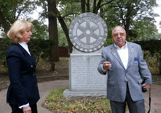 Photo: Head of the Rotarians supporting the PH-Rotary Memorial: IRV KAPLAN - a real Rotary Character