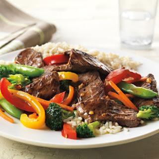 Asian Beef & Vegetable Stir Fry.