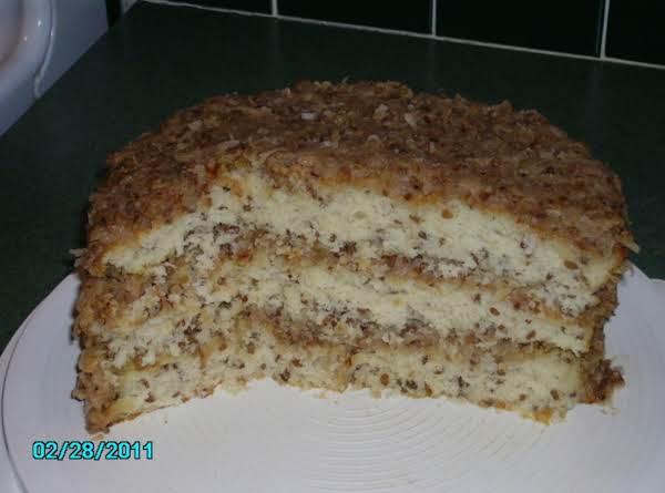 White German Chocolate Cake