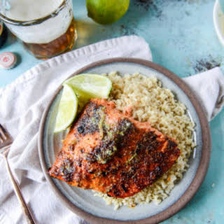 30 Minute Cajun Salmon with Salted Lime Butter.
