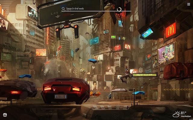 Future Sci Fi City HD Wallpapers New Tab