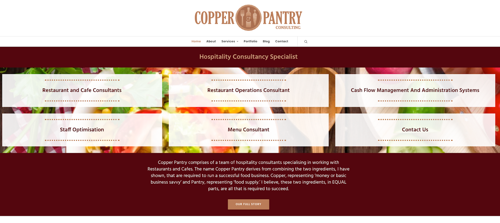 Copper Pantry Consulting service page example