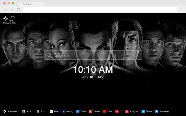 Star Trek Into Darkness New Tabs HD Themes