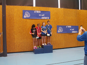 Photo: Mixed Cadets 1ers Antonin Becker (OFBC)/Julia Schmitter (EnaBad) 2es Arnaud Dubois/Sarah Ildan (EnaBad)