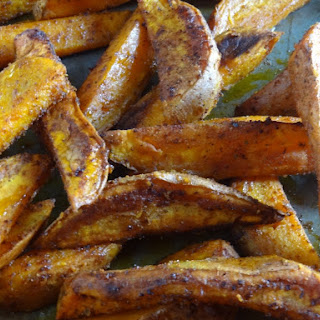 Hot and Spicy Sweet Potato Chili Fries.