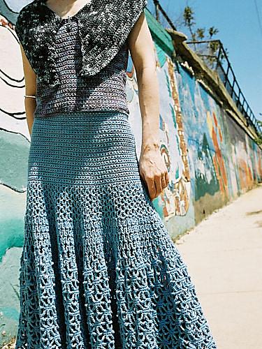 Spiderweb skirt crochet pattern