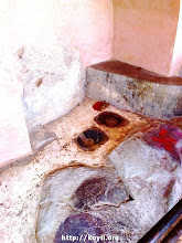 Photo: kAmya vanam - bhOjana thALi - krishNa/balarAm's plates preserved