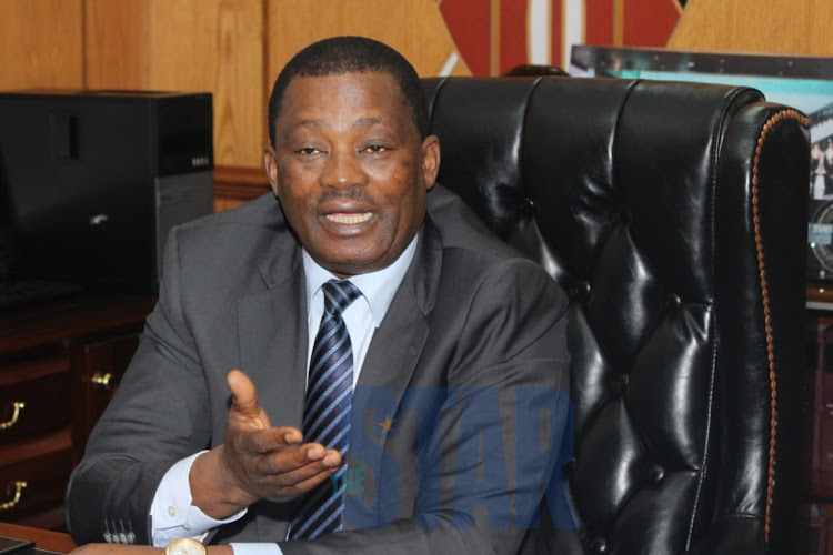 National Assembly Speaker Justin Muturi in his office on Monday, December 2, 2019.