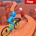 Uphill Stickman BMX Bicycle Stunts icon