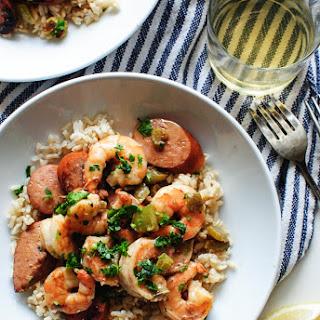 Weeknight Cajun Sausage and Shrimp with Rice