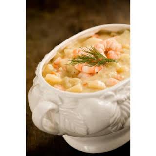 Potato Soup With Shrimp.