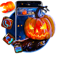 3D Halloween Pumpkin Glass Theme