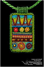 Photo: Pendant with Colourful Cheerful Figures - Кулон з веселим кольоровим малюнком