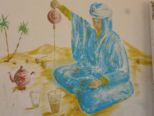 Wall Painting of a Tea Ceremony
