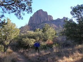 Photo: The Pinnacles Trail leads past Casa Grande, one of the most prominent features in Big Bend.