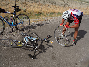 Photo: Day 20 Riverton to Casper WY 120 miles, 2500' climbing: Jim says he is working on the fruits of the Holy Spirit, especially PATIENCE and SELF CONTROL.