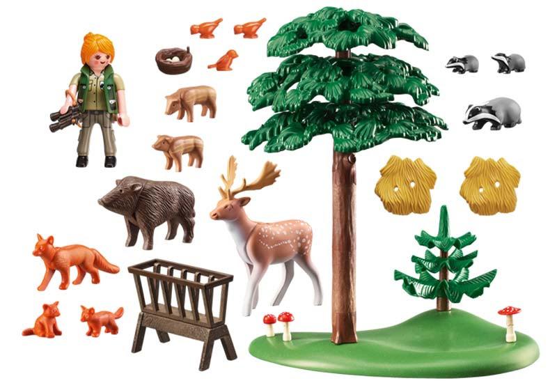 Contenido real de Playmobil® 6815 Animales del Bosque