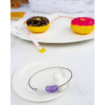 Jellycandy手鈪(紫色)~可以訂造的!你喜歡什麼顏色呢?😉