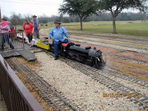 Photo: Pete Greene: any time on a steam loco is better than being at work.   2014-0315 DH3