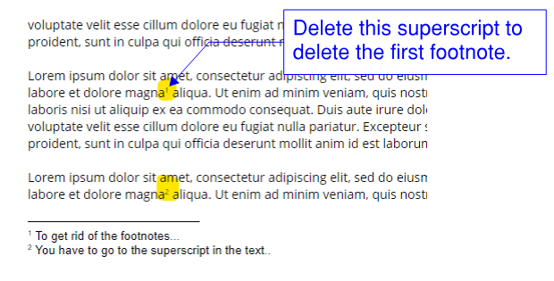 How Do I Delete A Footnote In Google Docs Docs Editors Community There is another useful setting in google docs when it comes to changing the size of. how do i delete a footnote in google
