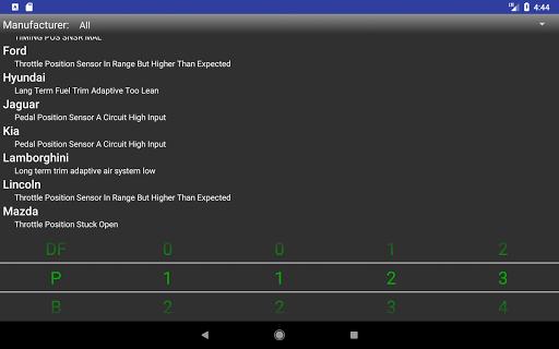 OBDII Trouble Codes Lite  screenshots 4
