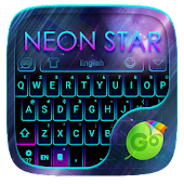Neon Star Emoji Keyboard Theme