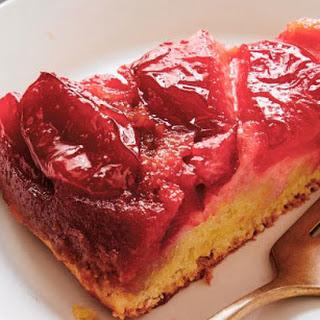 Upside-down Plum Cake.