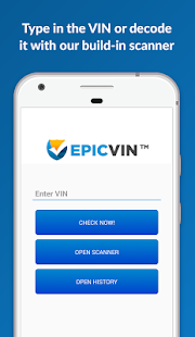 Epicvin VIN decoder & history- screenshot thumbnail