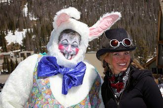 Photo: Easter Bunny visits Wolf CreeK!